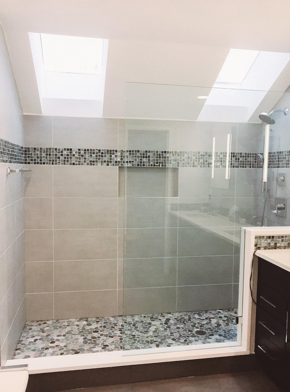 Glass shower Bathroom remodel herndon