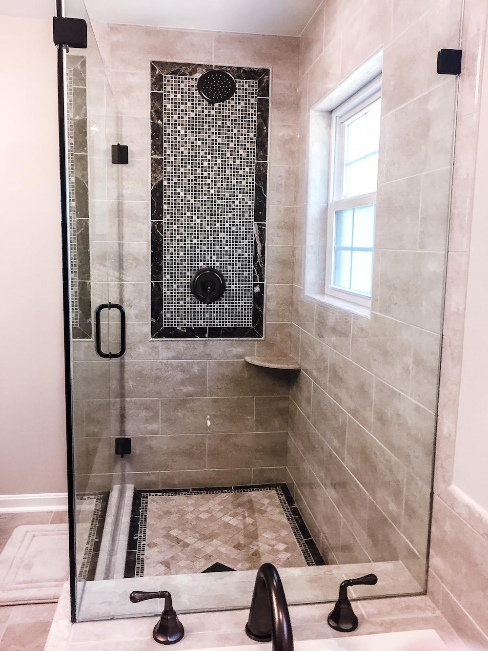 Rustic Bathroom remodel fairfax county