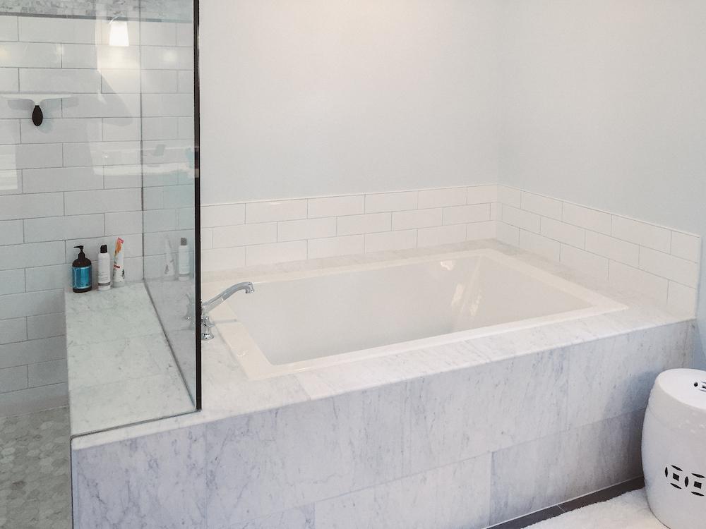 Marble Bathroom remodel fairfax county