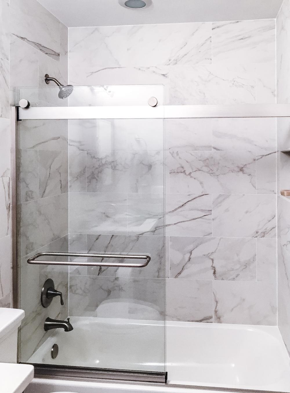 sleek Bathroom remodel fairfax county