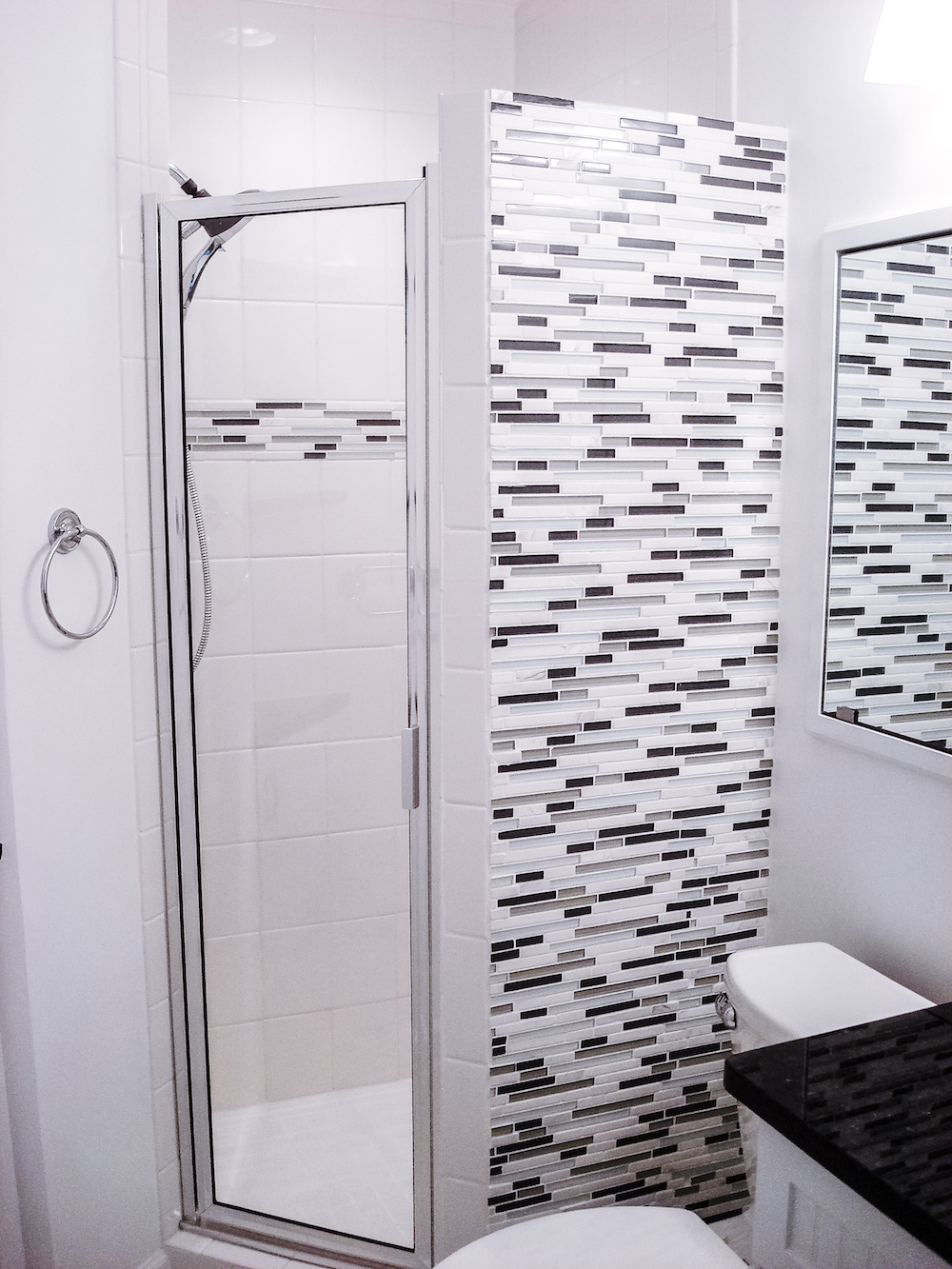 Tiled shower installation