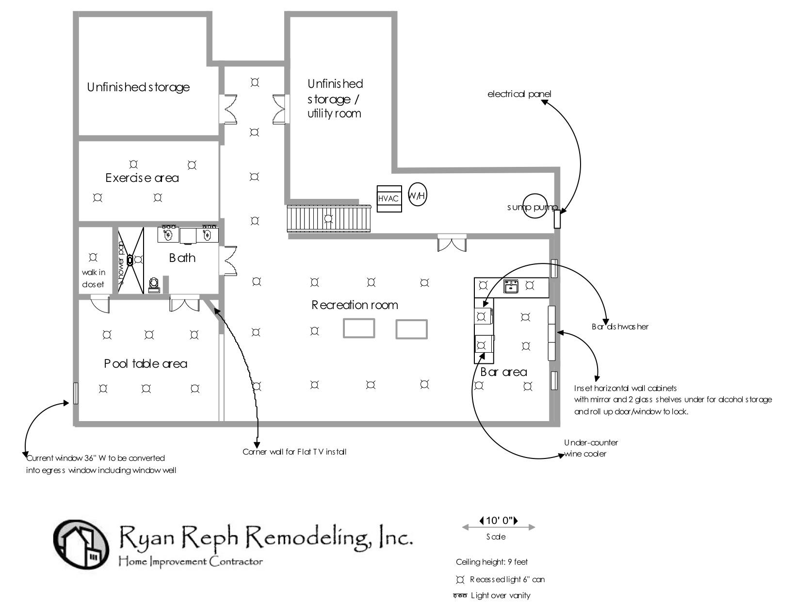 Floor Plans Ryan Reph Remodeling Inc