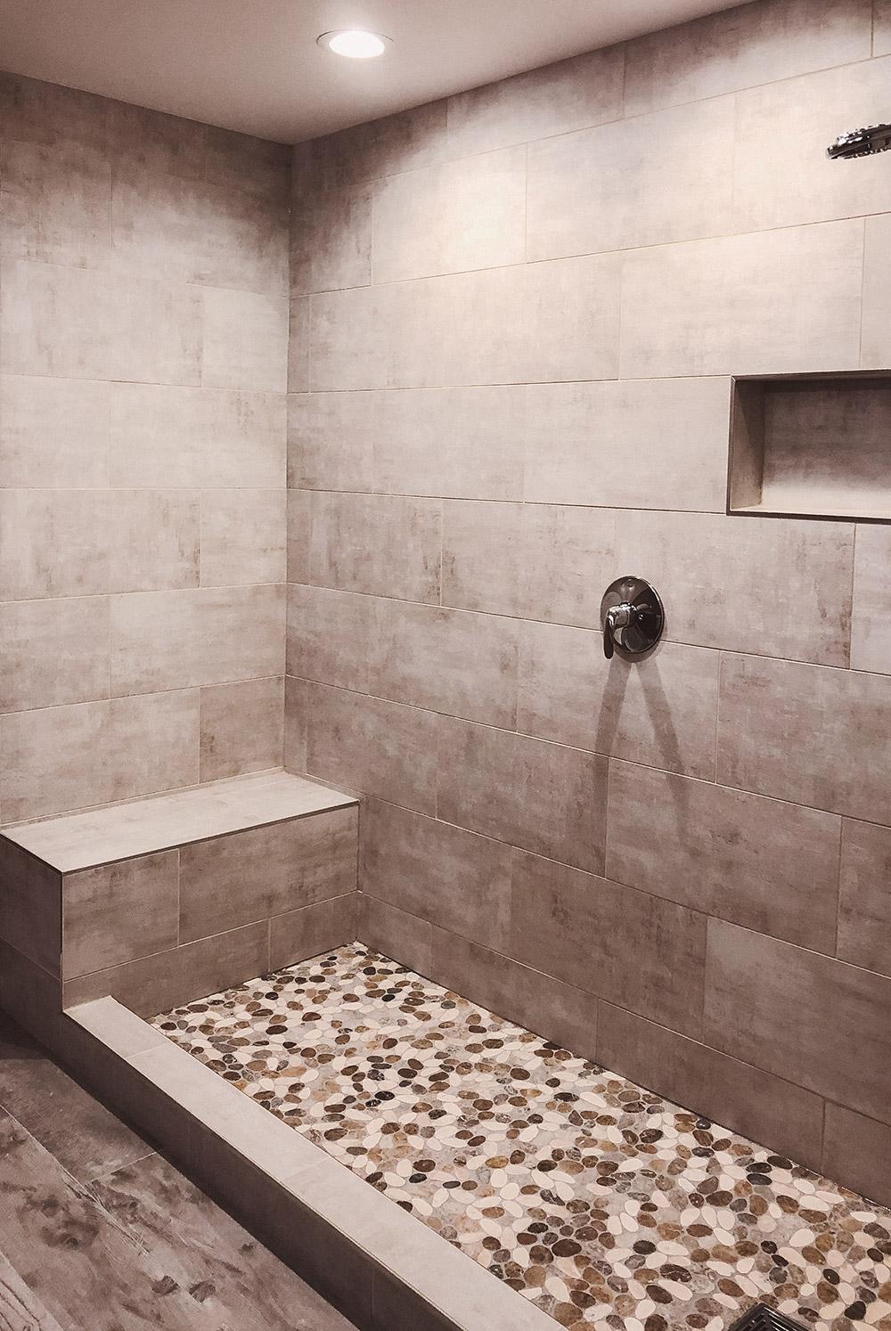 Custom Tile Shower Pan
